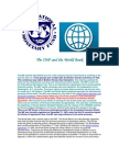 The IMF and the World Bank