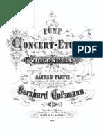 Cossmann - 5Concert Etudes Op[1].10 for Cello