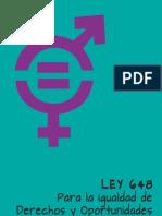 Versión popular Ley igualdad de oportunidades