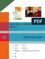 Analisis 24 Hour Food Recall Gk Dasar
