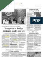 24-08-2006 Transparencia Divide a Diputados Locales Otra Vez