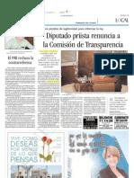 25-08-2006 Diputado Priista renuncia a la Comisión de Transparencia