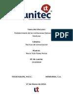 Fortalecimiento de Las Instituciones Democraticas en Honduras-II