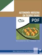 Autonomía indígena en Tierras Bajas