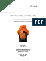 International Marketing Plan for Stroh Austria