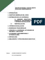 PROGRAMACION ECONOMIA 1º BACHILLERATO SEMIPRESENCIAL CURSO 2012-13