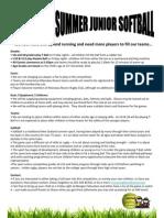 Junior Softball Flyer 2012 v2