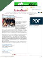 02-11-12 El Sol de México - Poiré resalta trabajo de seguridad en Puebla