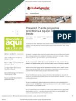 09-11-12 Ciudad y Poder - Presentó Puebla proyectos prioritarios a equipo del presidente electo