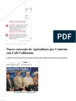 09-11-12 Sexenio Puebla - Nuevo convenio de Agricultura por Contrato con Café California