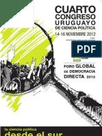 """4º CONGRESO URUGUAYO DE CIENCIA POLÍTICA """"LA CIENCIA POLÍTICA DESDE EL SUR"""""""