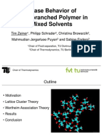 Phase Behavior of Hyperbranched Polymer in Mixed Solvents