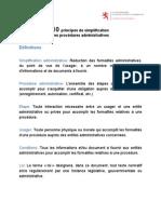 CNUCED UEMOA - 10 Principes de Simplification Aministrative