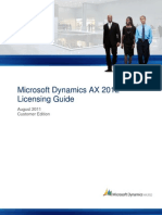 Dynamics AX 2012 Licensing Guide CustomerEdition