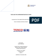 Tesco and the Supermarketization of China