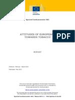 Eurobaro Attitudes Towards Tobacco 2012 En