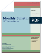 Library Bulletin, October 2012, CIIT Lahore Library