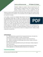 Worksheet on Decision Making, Learning, Creativity, and Entrepreneurship