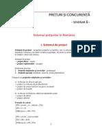 Suport Seminar Sistemul Preturilor in Romania