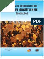 Üniversite Öğrencilerinin İfade ve Örgütlenme Özgürlüğü 2012