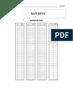 Answer Key Xat 2011