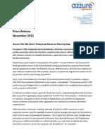 Azzure Press Release J&S Davies Dental Nov12