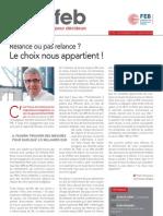 Relance ou pas relance ? Le choix nous appartient !, Infor FEB 35, 15 novembre 2012