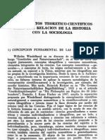 Fundamentos Teoretico-cientificos Para Relacionar Historia y Sociologia