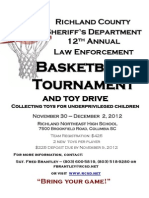 Richland County Sheriff's Department 2012 basketball tournament
