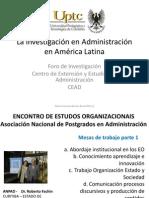 La investigación en Administración en América Latina -CEAD