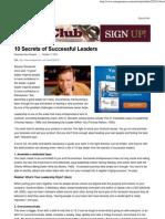 10 Secrets of Successful Leaders