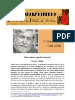 Clifford Geertz - Biografía Intelectual