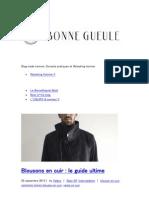 Blouson en Cuir Le Guide Ultime - Bonne Gueule
