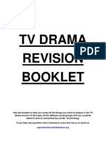 ANALYSING TV DRAMA REVISION BOOKLET