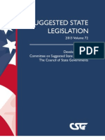 Suggested State Legislation 2013 Volume 72, The Council of State Governments