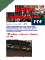 Noticias Uruguayas miércoles 14 de noviembre del 2012