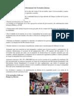 La Comisión de Seguridad del Movimiento 8 de Noviembre informa