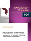 Epidemiology of Malawi