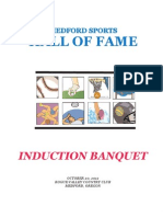 Medford Sports Hall of Fame induction banquet guide