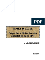Notes d'Informatique Excel (Complet)