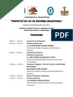Programa de Conferencia Magistral