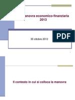 Provincia di Trento, manovra economico-finanziaria 2013