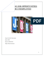 Creating Job Opportunities for Unemployed