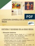 LITERATURA ESPAÑOLA EN LA EDAD MEDIA