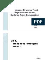 Emergent Grammar