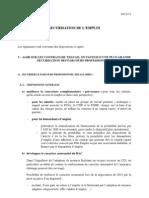 trame texte sécurisation de l'emploi 14 nov 2012