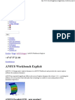 ANSYS Workbench Explicit - EDR
