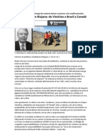 El Zinc y El Cobre Riojano. de Vinchina a Brasil y Canada 14-12-11