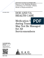 DOD AND VA HEALTH CARE Medication Needs during Transitions