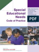 SEN Code of Practice 2001